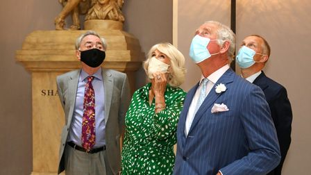 Prince Charles and Duchess of Cornwall with Lord Andrew Lloyd Webber at Theatre Royal