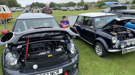 The Mini Cooper, which received a special prize at the show