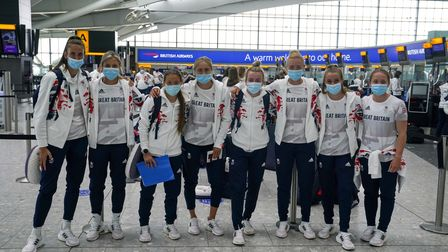 Members of the Team GB Women's Football Team depart London for the Tokyo Olympics. Picture date: Wed