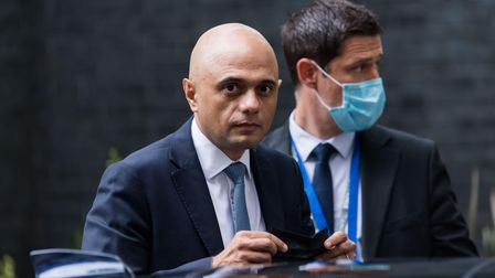 Health secretary Sajid Javid, who apologised for saying people had cowered in the face of Covid