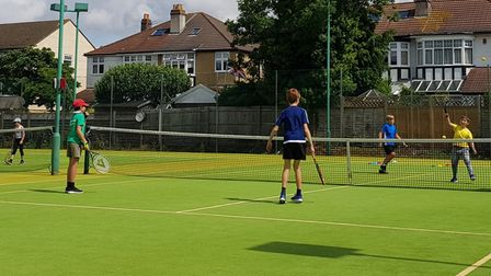 Youngsters in action at Clevedon Lawn Tennis Club