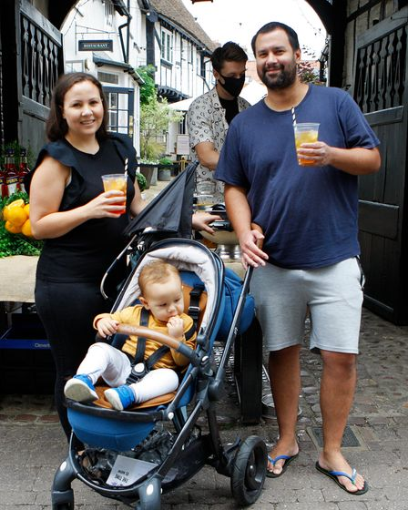 The Baker family enjoy a day out atthe Bucklesbury and Sun Street Day festival