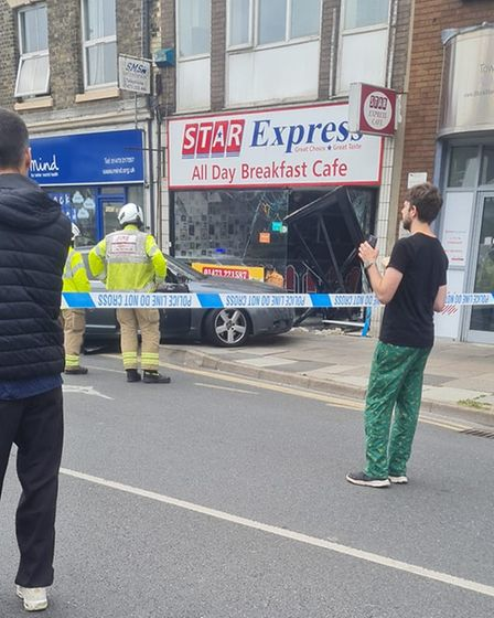 Emergency services are on the scene at St Matthew's Street in Ipswich this morning