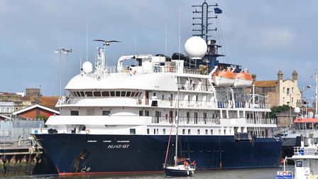 Noble Caledonia's flagship vessel, The MS Island Sky spent almost nine hours at the port of Lowestoft.