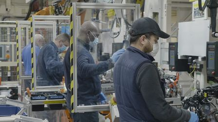 There are 1,200 employees involved in engine plant production at Ford Dagenham.
