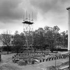 Stevenage town centre being constructed in 1958
