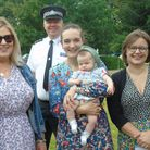 Chief inspector Keith Philpot with some of the organisers of the event at the former Hethersett Old Hall School.