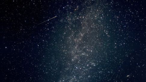 The Perseid meteor shower and Milky Way as seen over Singleton in West Sussex