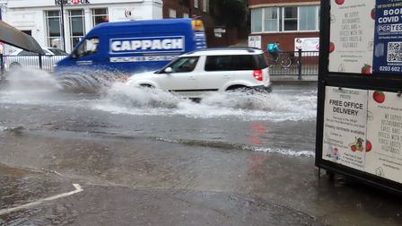 Flooding in Finchley Road