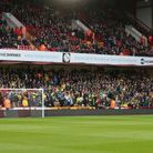 The traveling Norwich fans before the Premier League match at Bramall Lane, Sheffield Picture by Pa