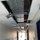 Collapsed ceiling at Whipps Cross Hospital, Waltham Forest