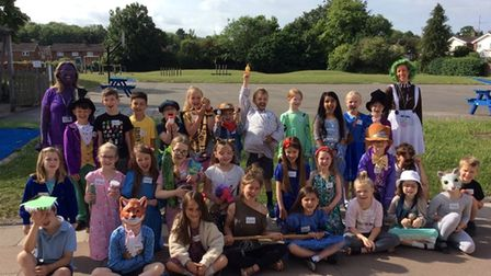 Pupils at Icknield Walk First School in Royston dressed up as Roald Dahl characters to celebrate 'Whoopsy Whiffling' day