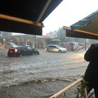 Flooding hits South End Green for the second time in a fortnight on Sunday July 25