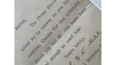 Extract from Winston Churchill letter