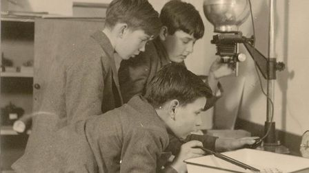 Boys at Barclay school in Stevenage in a science lesson