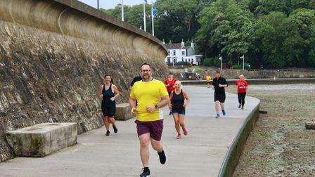 Runners taking part in Clevedon Parkrun.