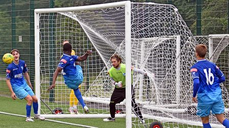 Wingate & Finchley in action against Barking at Barnes Lane