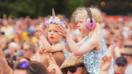 Younger audience members at Standon Calling Festival 2021.