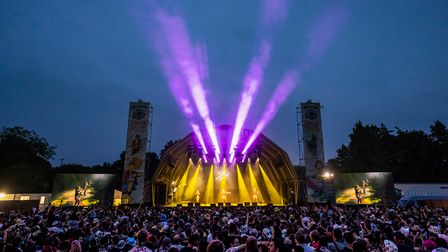 The main stage at Standon Calling Festival 2021 during Sister Sledge's set.