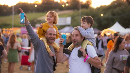 Families at Standon Calling Festival 2021.