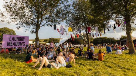 Standon Calling Festival 2021 in better weather before Sunday's torrential rain.