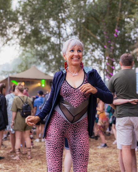 Getting into the mood at Standon Calling Festival 2021.