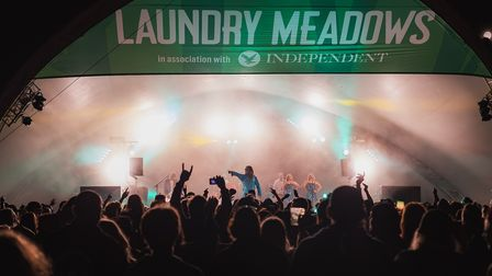 The Laundry Meadows at night at Standon Calling Festival 2021.