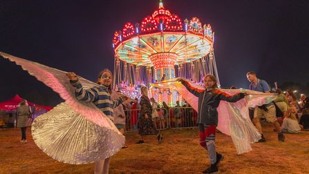 Standon Calling Festival 2021 at night.