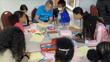 An activity with Rein, one of Newham's voluntary and community partners for its HAF programme