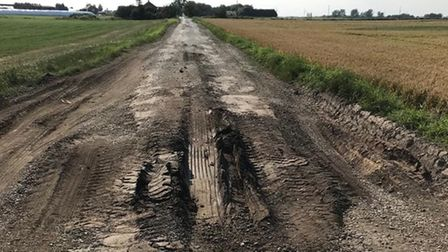 Cant's Drove, Murrow, near Wisbech, and probably the worst road in Fenland.