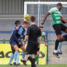 St Neots Town in action against Welling Town during their pre-season friendly
