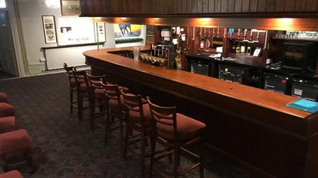 The main bar at Mendis in Wisbech