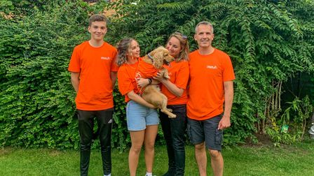Alice Lunn with her family.