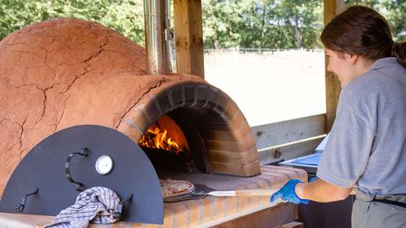 Stone-cooked pizza is available for lunch atCeltic Harmony.