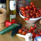 Ingredients for a classic gazpacho