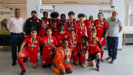 Youngs FC under-13s face the camera
