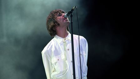 Liam Gallagher of Oasis at Knebworth