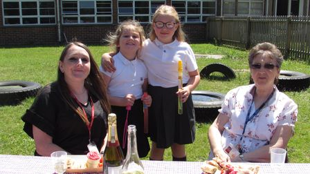 Afternoon tea was enjoyed to mark the long service and retirement of Mrs Hart.