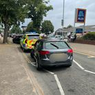 The driver of this Audi was caught more than four times over the legal alcohol limit.