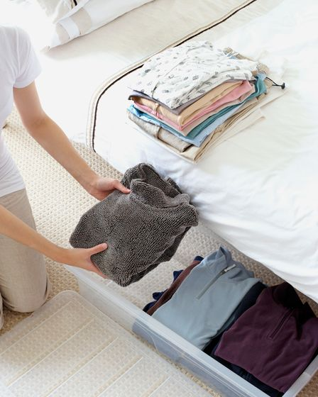 Under-the-bed drawers will help max out your storage.