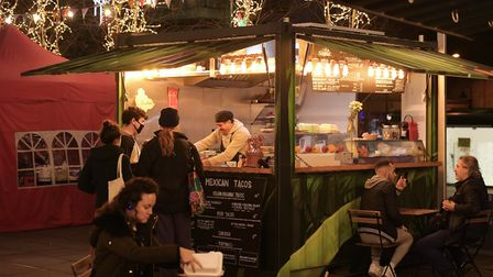One of StreetCube's solar-powered, sustainablestreet kitchens.