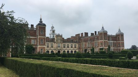 The South Front of Hatfield House in Hertfordshire.