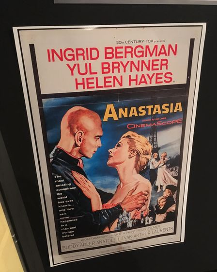 The film poster for Anastasia starring Yul Brynner and Ingrid Bergman, who won an Oscar for her role in the movie