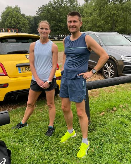 Wendy Walsh and Blake Vivian of St Albans Striders