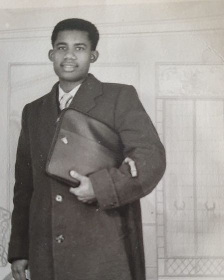 Pastor Morris, who devoted his life to helping young people,as a young man.