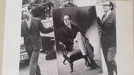 George Anthony Rowe with Eric Morecambe in 1970