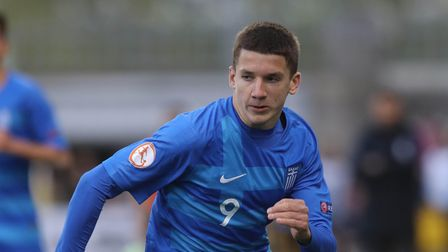 Christos Tzolis of Greece pictured during the 2019 UEFA European Under-17 Championship Group A match