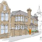 A sketch of what Sheringham town hall could look like if plans to convert the building into a home are approved