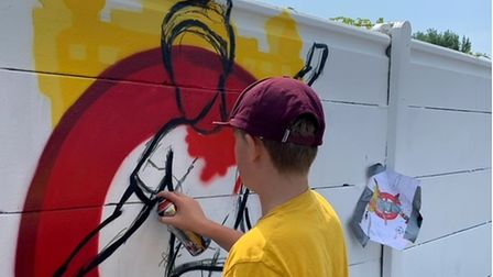Vanedalism pairs with 12-year-old artist for mural