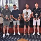 The five divisionalwinners in the Herts Ad Sunday League
